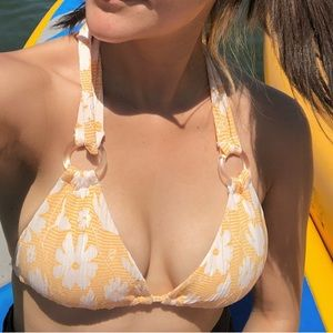 Out From Under Urban Outfitters Floral Bikini Top